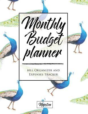 My Home Budget Planner: Monthy Bill Organizer & Expense Tracker Book, Peacock Tough Matte Cover Design