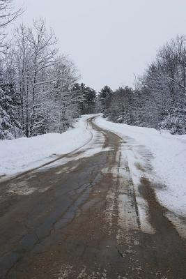 Journal Country Road Winter Day: (Notebook, Diary, Blank Book)