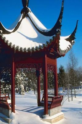 Winter Theme Journal Snow Covered Pagoda: (Notebook, Diary, Blank Book)