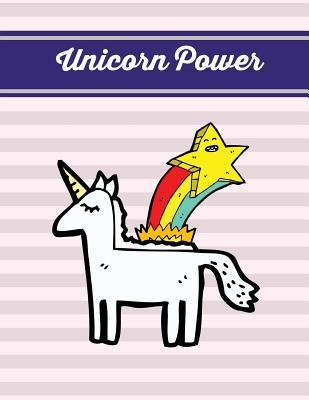 Unicorn Power  Lavender Blush Unicorn Notebook, Journal, Diary (Composition Book Journal) (Large, 8.5x11 In.)