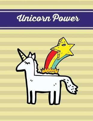 Unicorn Power  Pale Yellow Unicorn Notebook, Journal, Diary (Composition Book Journal) (Large, 8.5x11 In.)