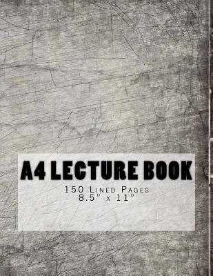 A4 Lecture Book 150 Lined Pages 8.5 X 11  Digital Design