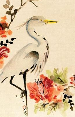 Asian Floral Crane Journal Notebook, College Ruled  100 Sheets / 200 Pages, 5.5 X 8.5