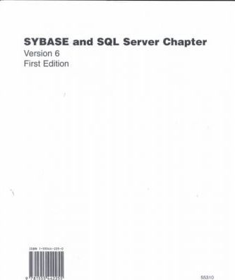Sybase and SQL Server Chapter