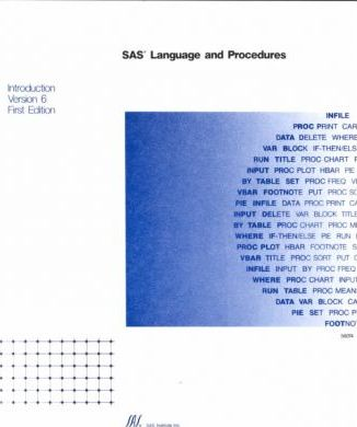 Sas Language and Procedures
