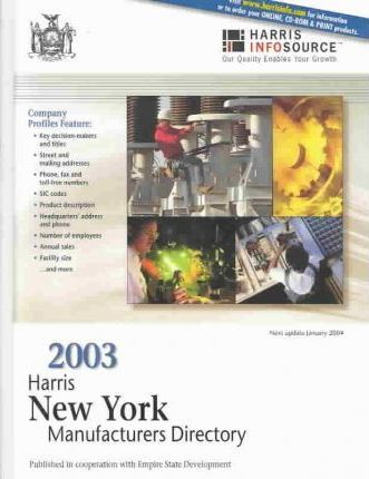 2003 New York Manufacturers Directory