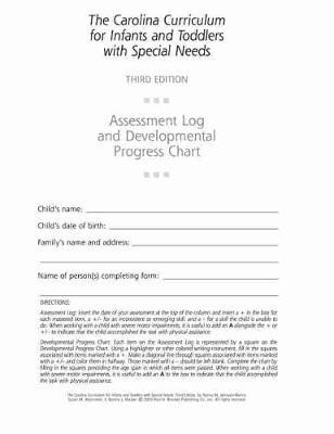 Assessment Log and Developmental Progress Charts for Infants and Toddlers (CCITSN)