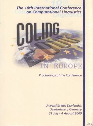 Coling/Acl Proceedings: the 1988-2000 International Conferences