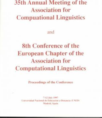Acl Acl Proceedings 1997 Annual Mtg