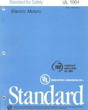 Standard for Safety for Electric Motors and Generators for Use in Hazardous