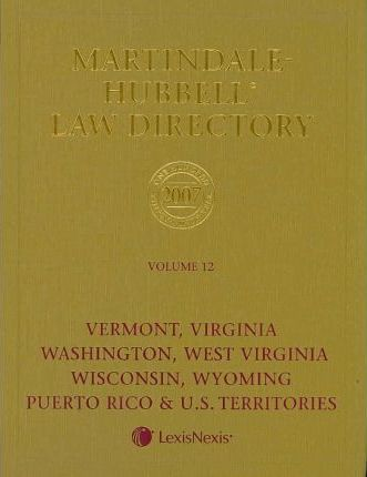 Martindale Hubbell Law Directory 2007