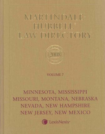 Martindale Hubbell Law Directory 2008
