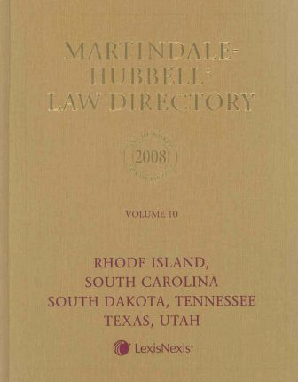 Martindale-Hubbell Law Directory 2008