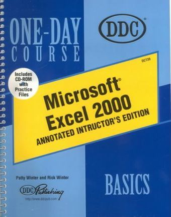 Microsoft Excel 2000 Basics One-Day Course