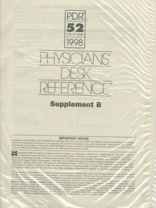 Physician's Desk Reference 1998 Supplement B