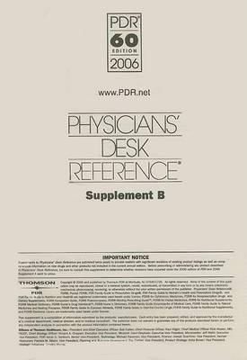 Physicians' Desk Reference Supplement B