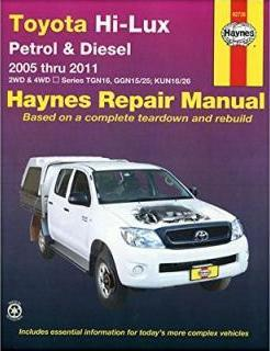 Toyota Hi-Lux P&D 2WD 4WD Automotive Repair Manual