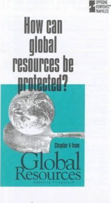 How Can Global Resources Be Protected?
