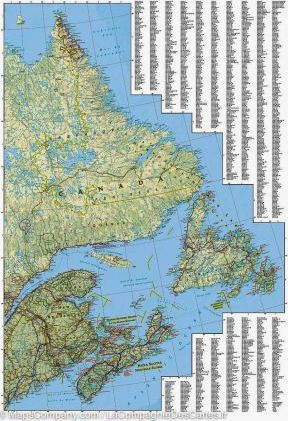 Map Of Canada East.Canada East National Geographic 9781566956376