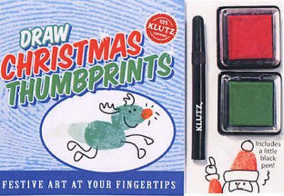 Draw Christmas Thumb Prints