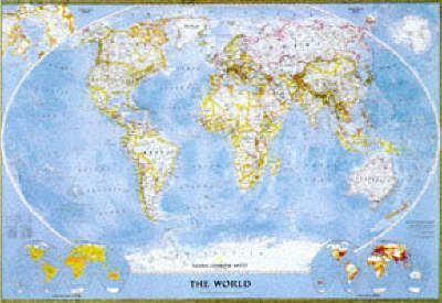 National Geographic World Political Map.World Political Map Winkel Tripel Projection National Geographic