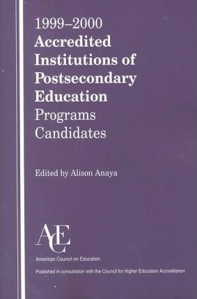 1999-2000 Accredited Institutions of Postsecondary Education