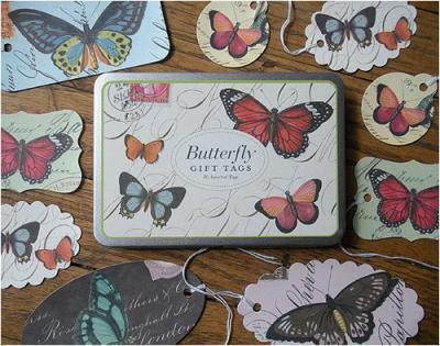 GIFT TAGS IN TIN BUTTERFLIES (GT/BTR)