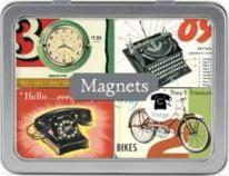 SET OF 24 MAGNETS IN TIN VINTAGE (MAGVIN)