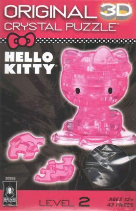 Hello Kitty - Pink Licensed 3D Crystal Puzzle
