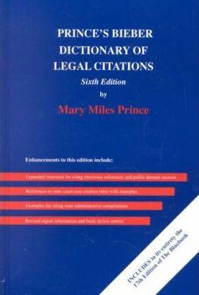 Biebers dictionary of legal citations mary miles prince biebers dictionary of legal citations ccuart Choice Image