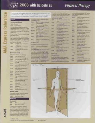 CPT 2008 Express Reference Coding Card Physical Therapy