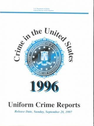 Crime in the United States 1996