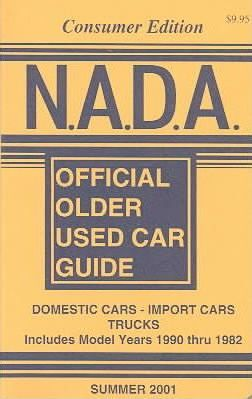 N.A.D.A. Official Older Used Car Guide