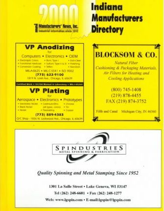 2000 Indiana Manufacturers Directory