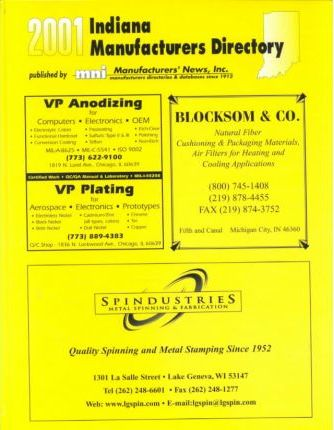 2001 Indiana Manufacturers Directory
