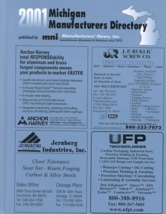 2001 Michigan Manufacturers Directory