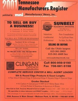 Tennessee Manufacturers Register 2001