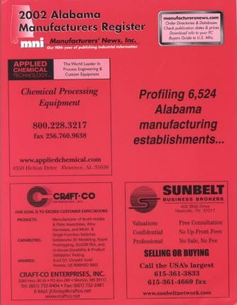 2002 Alabama Manufacturers Register