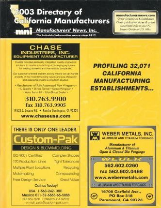 2003 Directory of California Manufacturers