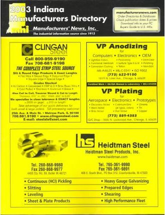 2003 Indiana Manufacturers Directory