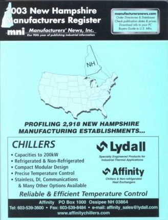 2003 New Hampshire Manufacturers Register