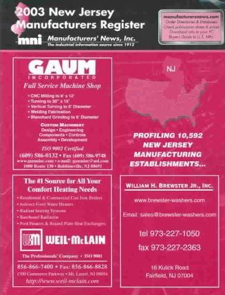 2003 New Jersey Manufactures Register