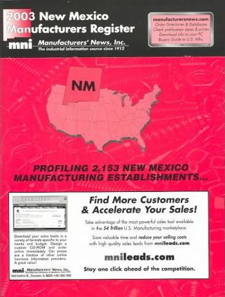 2003 New Mexico Manufacturers Register