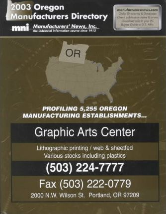 2003 Oregon Manufactures Directory