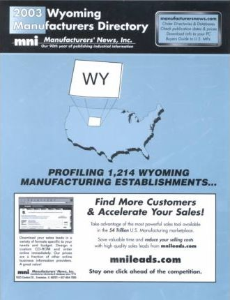 2003 Wyoming Manufacturers Directory