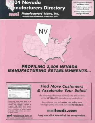 2004 Nevada Manufacturing Directory