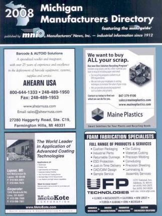Michigan Manufacturers Directory 2008