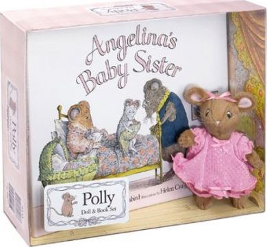 Angelina Ballerina Polly Doll & Book Set