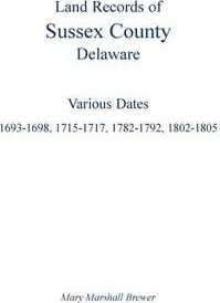 Land Records of Sussex County, Delaware