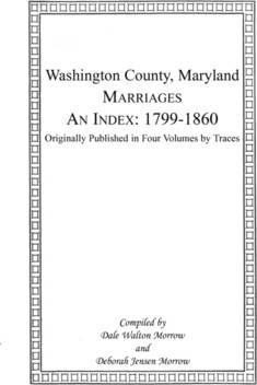 Marriages of Washington County, Maryland